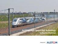 ALSTOM High Speed Rail Technology