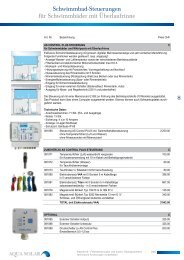 08 Filtersteuerungen und autom. Rückspülventile - Aqua Solar AG