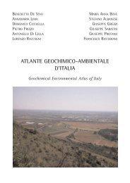 ATLANTE GEOCHIMICO-AMBIENTALE D'ITALIA - Aracne Editrice