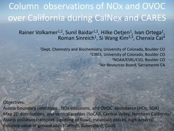 Column observations of NOx and OVOC over California during the ...