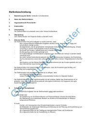 Stellenbeschreibung - Dr. Beer Managemententwicklung & Seminare