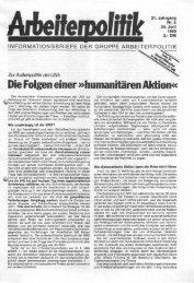 Die Folgen einer »humanitären Aktion« - der Gruppe Arbeiterpolitik