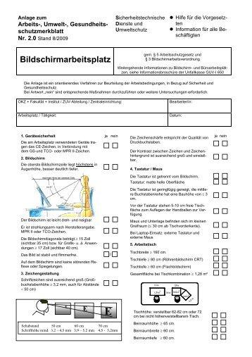 Arbeitsblatt - Sicherheitstechnische Dienste und Umweltschutz