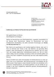 Aufstellung von Kabinen für Raucher/innen (§ 30 ... - Arbeitsinspektion