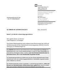 Berücksichtigung von § 8 ASchG in ... - Arbeitsinspektion