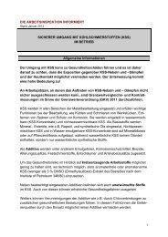 Informationsblatt Kühlschmierstoffe - Arbeitsinspektion