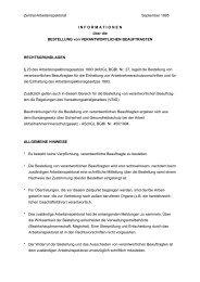 Bestellung von verantwortlichen Beauftragten ... - Arbeitsinspektion