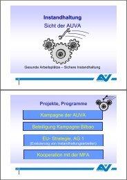 Präsentation Christian Schenk - Instandhaltung ... - Arbeitsinspektion