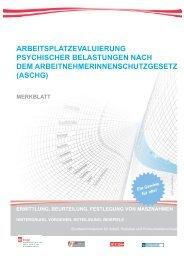 Merkblatt Arbeitsplatzevaluierung psychischer ... - Arbeitsinspektion