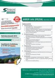 ARBER-Info SPEZIAL November 2013 - ARBER|seminare