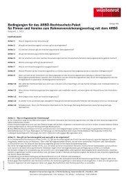 et Bedingungen für das ARBÖ-Rechtsschutz-Paket für Firmen und ...