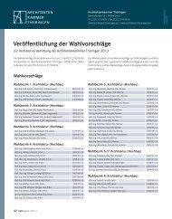 Veröffentlichung der Wahlvorschläge - Architektenkammer Thüringen