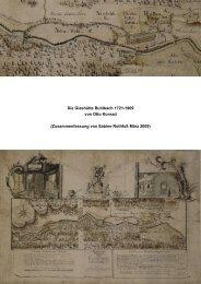 Die Geschichte der Glashütte Buhlbach von 1721-1909