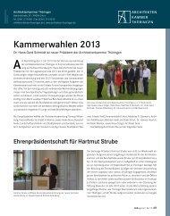 DAB August 2013 - Architektenkammer Thüringen