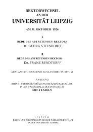 Transkription der Rede des abtretenden Rektors Steindorff