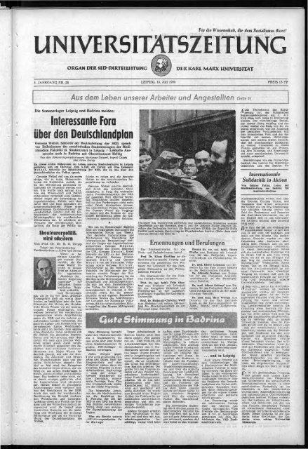 UZ 13 07 1960 - Universität Leipzig