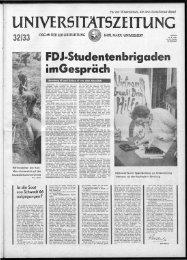 FDJ·Studentenbri aden imGespräch - Universität Leipzig