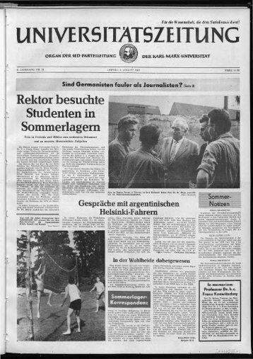 Studenten in Sommerlagern - Universität Leipzig