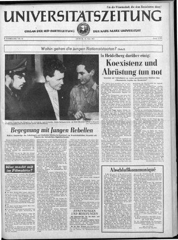 ·Koexistenz und :Abrüstung tun not - Universität Leipzig