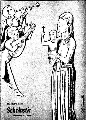 Notre Dame Scholastic, Vol. 100, No. 10 -- 12 December 1958