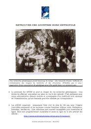 Retrouver des ancêtres hors métropole - Archives nationales