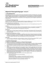 Allgemeine Nutzungsbedingungen - Amt für Raumentwicklung