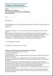 Vorlagen an den Kantonsrat - Kanton Zürich