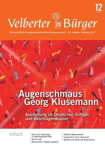 Dezember 2013 - ARGE Velberter Bürgervereine