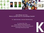 Vom Wissen zum Tun - Arge Abfallvermeidung