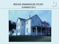 Reeves Farmhouse Study Summer 2011 - Arlington County