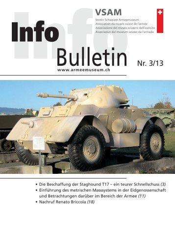 Bulletin Nr. 3/13 - Verein Schweizer Armeemuseum