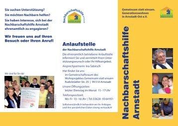 Faltblatt NACHBARSCHAFTSHILFE-Helferkreis ... - Stadt Arnstadt