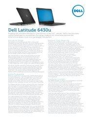 Datenblatt Dell Latitude 6430u deutsch - ARP