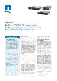 NetApp E5400 Storage-System - Arrow ECS GmbH