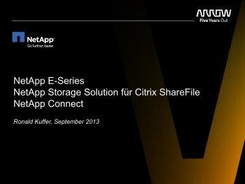 NetApp E-Series NetApp Storage Solution für ... - Arrow ECS GmbH