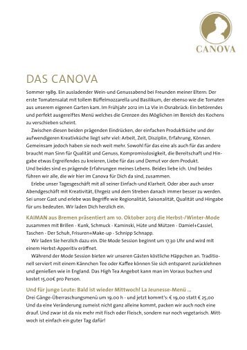 DAS CANOVA - arteFakt