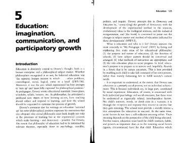 education and imagination - dewey (1 mb pdf) - Arvind Gupta