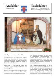 Dorfzeitung Nr. 17 2011 Dezember - Arzfeld