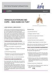 Exazerbation bei COPD - Arztbibliothek