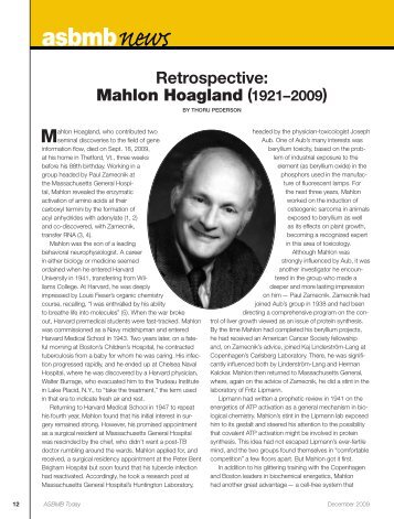 Mahlon Hoagland - asbmb