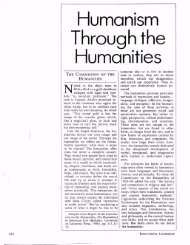 Humanism Through the Humanities - ASCD