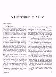 A Curriculum of Value - ASCD