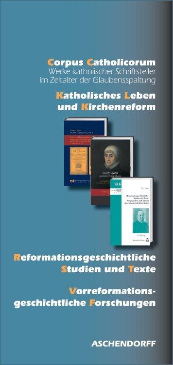 Corpus Catholicorum Vorreformations- geschicht liche ... - Aschendorff