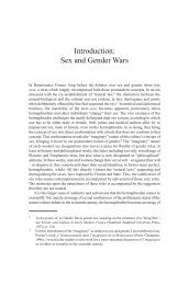 Introduction: Sex and Gender Wars - Ashgate