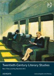 Twentieth-Century Literary Studies - Ashgate