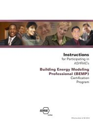 Building Energy Modeling Professional Certification ... - ashrae
