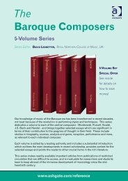 The Baroque Composers - Ashgate