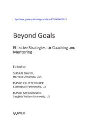 Goals in Coaching and Mentoring - Ashgate