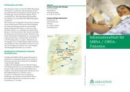 Informationsblatt für MRSA / ORSA- Patienten - SciVal