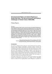 Developmental States and Hybrid Regimes in South-east Asia: The ...